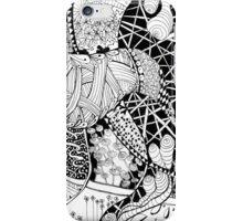 Zen doodle spiritual abstract art iPhone Case/Skin