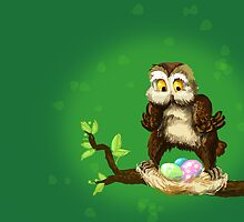 Easter owl by Redilion