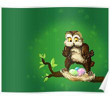 Easter owl Poster