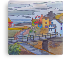 Staithes - from the hillside Canvas Print