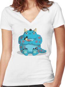 My Neighbor Sully Women's Fitted V-Neck T-Shirt
