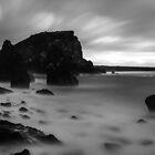 rocky beach by JorunnSjofn Gudlaugsdottir