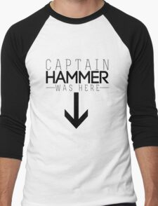 Captain Hammer was here Men's Baseball ¾ T-Shirt