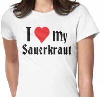 German I Love My Sauerkraut Womens Fitted T-Shirt
