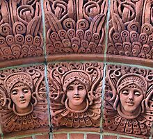 The Watts Mortuary Chapel -Brick Detail - HDR by Colin  Williams Photography