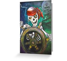 Pirate Moon Greeting Card
