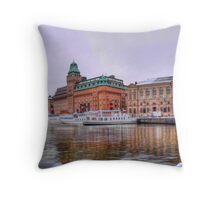 Nybrokajen, Stockholm Throw Pillow