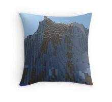 The Cliffs - Minecraft 3D Render Throw Pillow