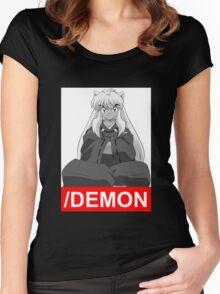 inuyasha Half Demon anime manga shirt Women's Fitted Scoop T-Shirt