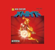 Metroid Famicom Disk System Japanese Box Art (NES) Unisex T-Shirt