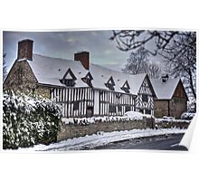 Mary Arden's House in the Snow Poster