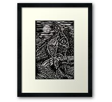 Owl Within Tiger Framed Print