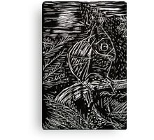 Owl Within Tiger Canvas Print