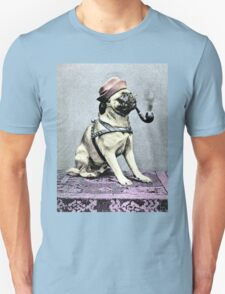 Pug Dog with Hat and Pipe T-Shirt