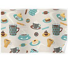 Morning Coffee Pattern  Poster