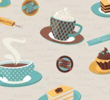 Morning Coffee Pattern  Sticker