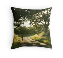 A Summer Bike Ride.... Throw Pillow