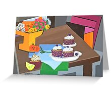DELICIOUS CUP CAKES Greeting Card