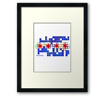 Tetris Chicago Framed Print
