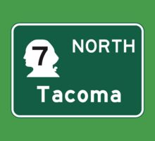 Tacoma, Road Sign, Washington Kids Tee