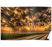 Storm Clouds Saskatchewan Canada Poster