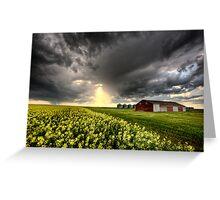 Storm Clouds Saskatchewan Canada Greeting Card