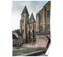 Conques Abbey Church from the Abbey grounds old cloisters 19840228 0053 Poster