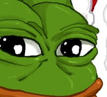 Holiday Pepe Sticker