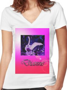 DIANNE Women's Fitted V-Neck T-Shirt