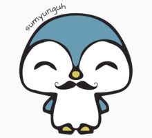 Mustache Penguin Kawaii Kids Tee