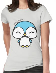 Mustache Penguin Kawaii Womens Fitted T-Shirt