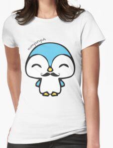 Mustache Penguin Kawaii Womens Fitted T-Shirt