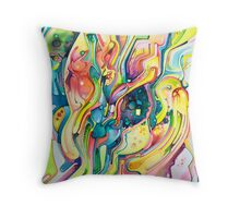 Timeless June 26 2007 - Watercolor Painting Throw Pillow