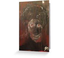 afro zombie Greeting Card