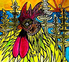 Norfolk Island's dawn cock calls.  by grarbaleg