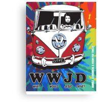 WWJD  ? tie dye Canvas Print
