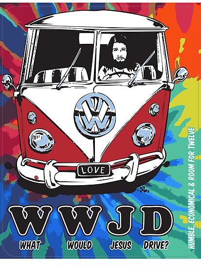 WWJD  ? tie dye by bulldawgdude