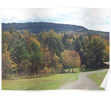 Autumn Country Road Poster