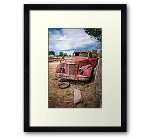 The Old Bucket Framed Print