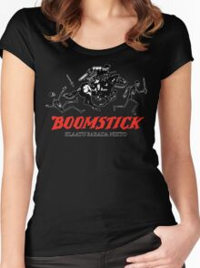 BOOMSTICK REPEATING ARMS!! (DARK) Women's Fitted Scoop T-Shirt