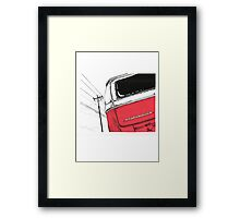 Red Bay Framed Print