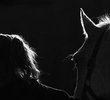 Girl and Her Horse by BarrieHocking