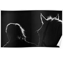 Girl and Her Horse Poster