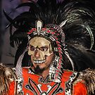 Aztec Masked Dancer  by heatherfriedman