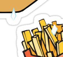 Hot Dog French Fry Sticker