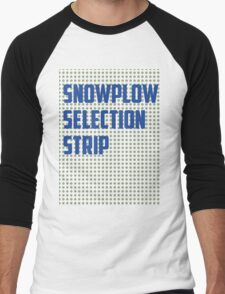 Snowplow Selection Strip Men's Baseball ¾ T-Shirt