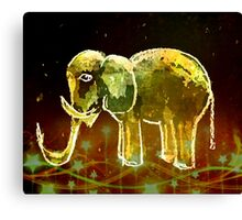 Elephant And Stars Canvas Print