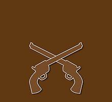 Guns pistols shooters crossed gunslinger by jazzydevil
