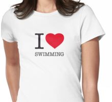 I ♥ SWIMMING Womens Fitted T-Shirt