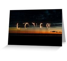 Love in Sunset Light Greeting Card